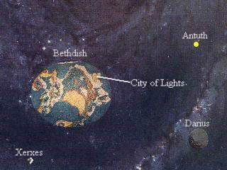 Bethdish from far orbit. Click to enlarge.
